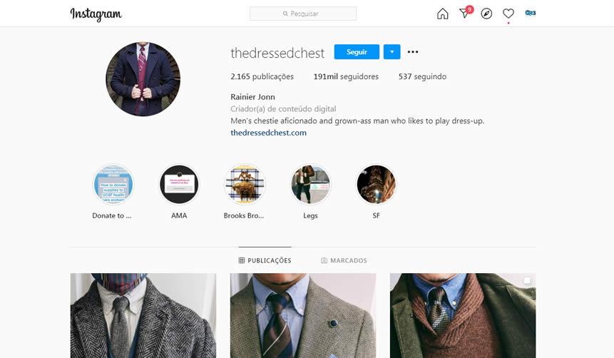 Famoso Instagram que não mostar o rosto