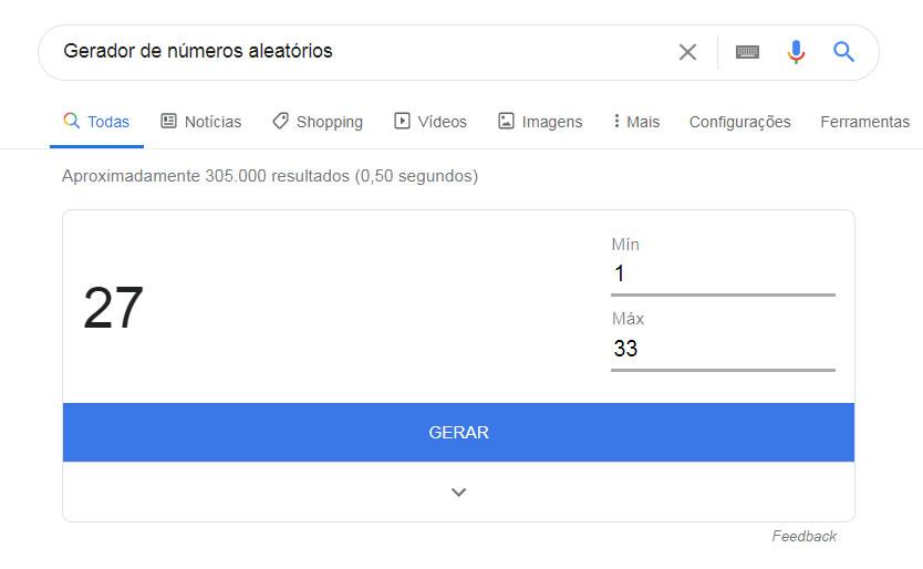 gerador numero Google
